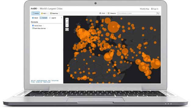 94 milliards de cartes vues sur ArcGIS Online