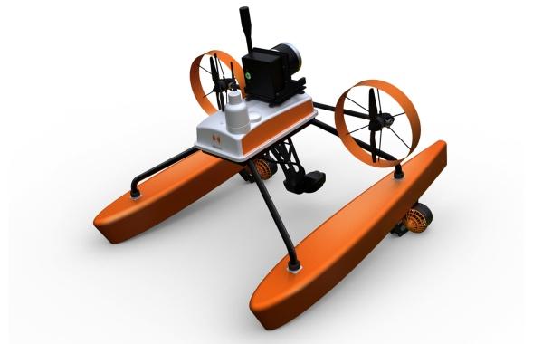 Hélicéo drone catamaran bathymétrique