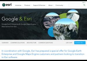 Esri prêt à accueillir les utilisateurs de Google Earth Enterprise