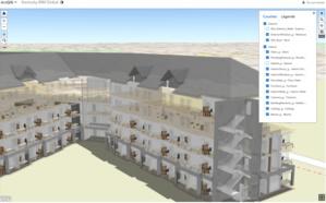 Exemple d'intégration de modèle BIM dans ArcGIS Online