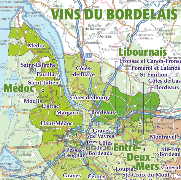 LA carte indispensable aux amateurs de vins !