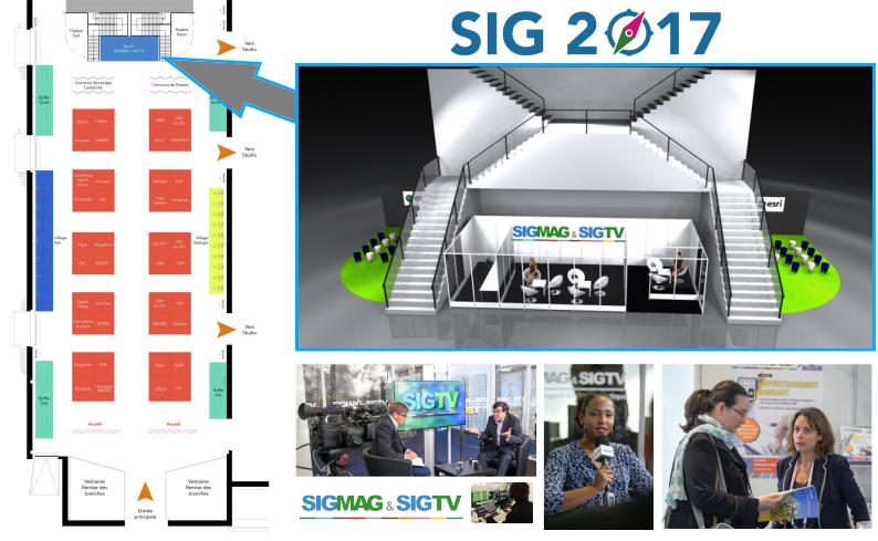 Retrouvez SIGMAG et SIGTV.FR sur SIG2017 !