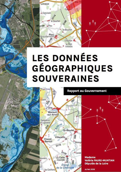 Valéria Faure-Muntian remet son rapport sur les données géographiques souveraines