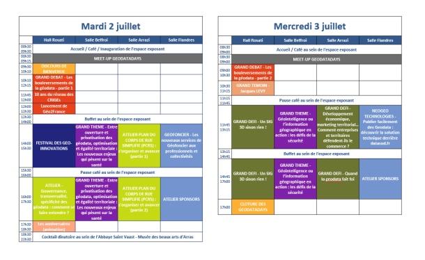 Au programme des GeoDataDays 2019 à Arras