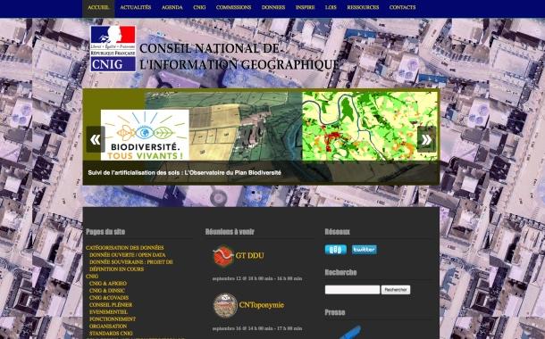 Le site du CNIG est de nouveau en ligne