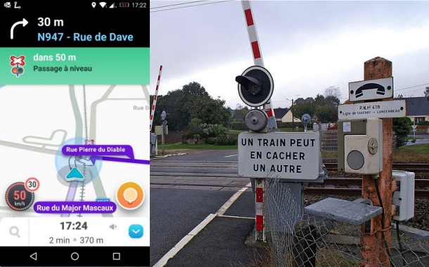 Avec SNCF Réseau, Waze signale désormais les 15.000 passages à niveau