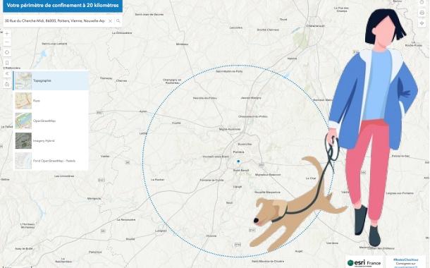 Covid-19 : le périmètre de sortie autorisée est porté à 20km, visualisez votre nouvelle carte