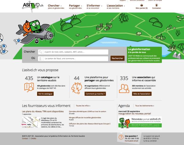 Le géoportail de l'ASITVD a fait peau neuve début novembre. Il regroupe 435 jeux de données de 44 fournisseurs, dont 28 structures publiques.
